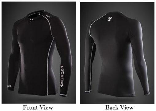 Virus Stay Cool Men's Long Sleeve Compression V-Neck Shirt ...