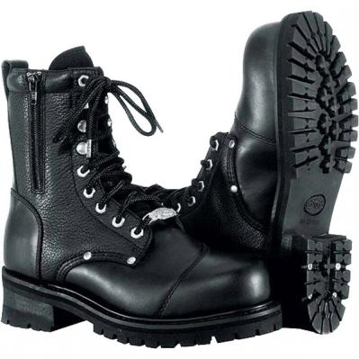 River Road Double Zipper Field Men's Leather Boots – Motorhelmets ...