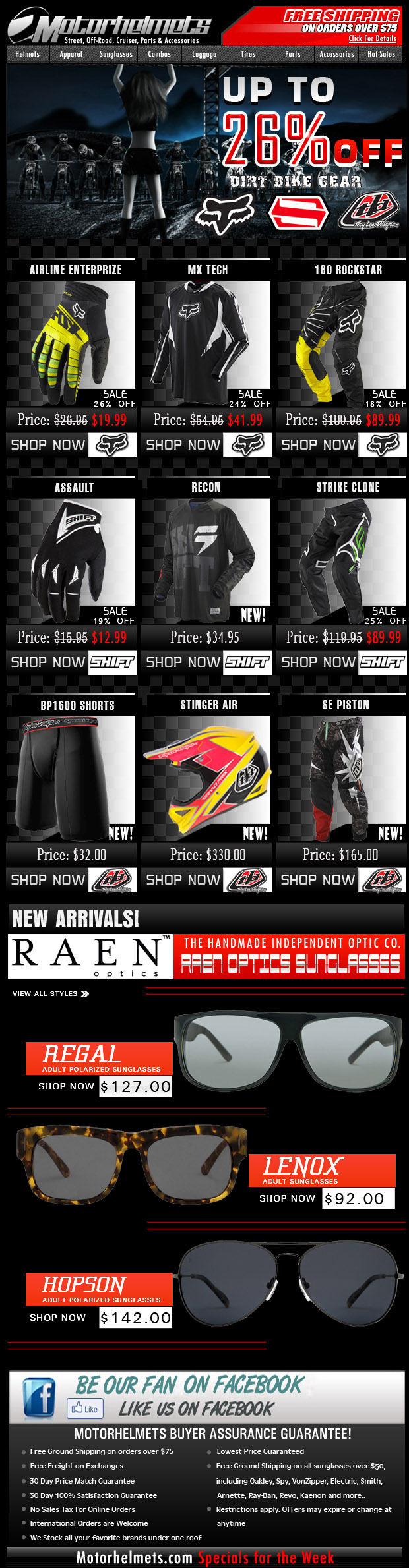 Octo-GEAR-Fest! Up to 26% Off on Fox, Shift, TLD MX Gear! - 10/06/12