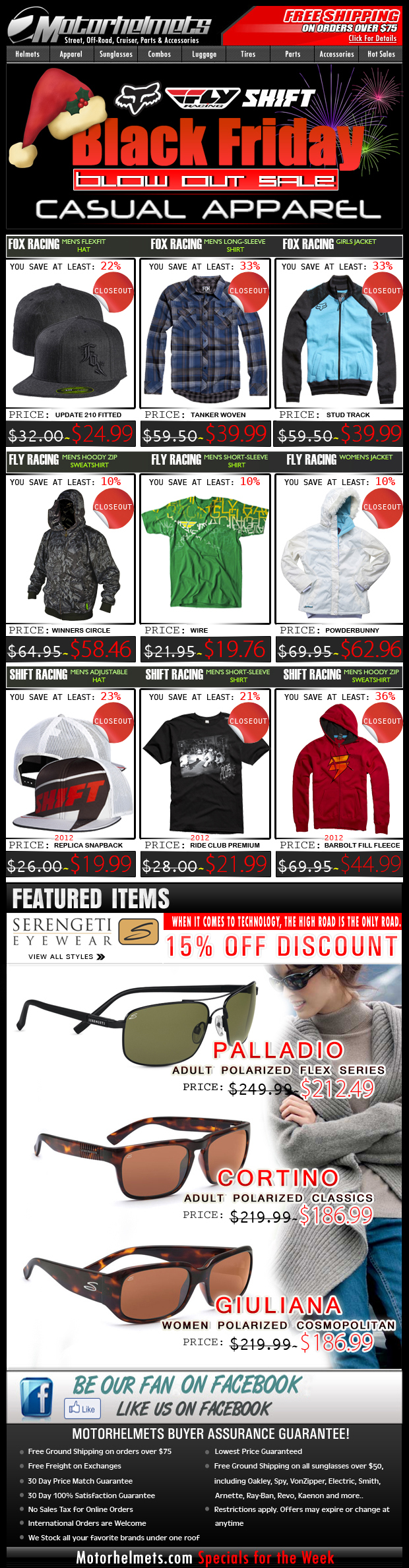 Countdown to Black Friday SALE: Fox, Fly, Shift Closeouts!