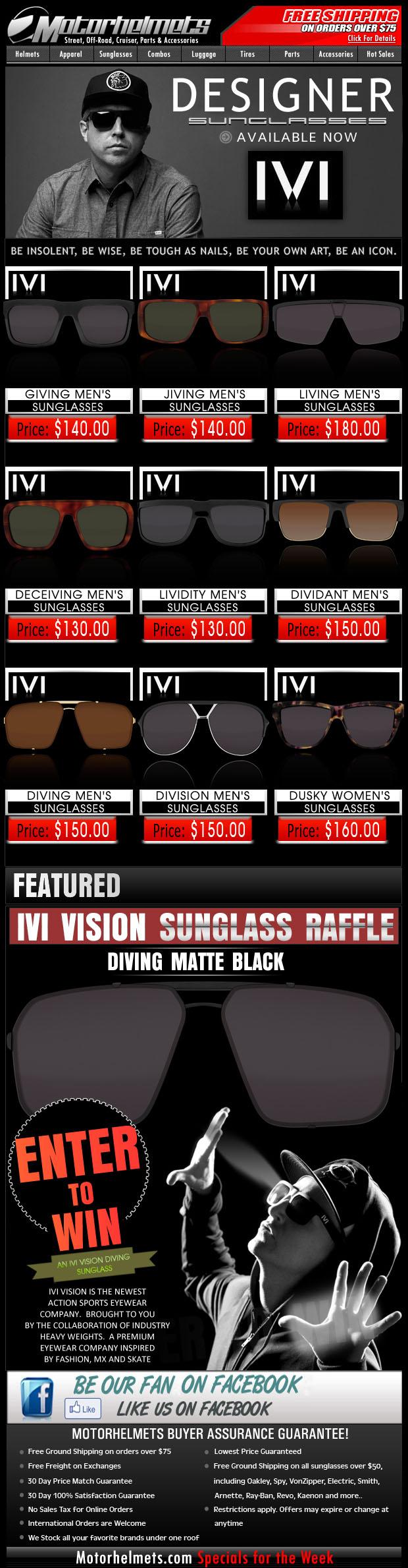 IVI Vision Sunglass Raffle - Win the IVI Vision Diving Sunglasses!