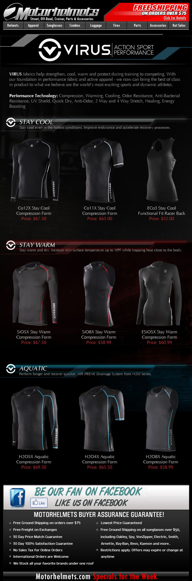 NEW ARRIVALS: VIRUS Action Sport Performance Gear!