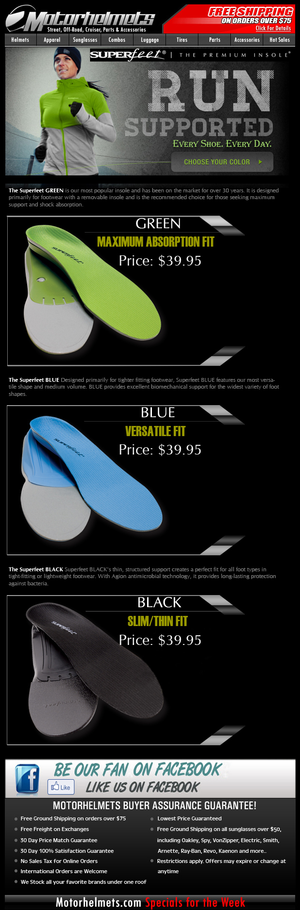 Introducing the Superfeet Premium Insoles...Available in 3 Colors!