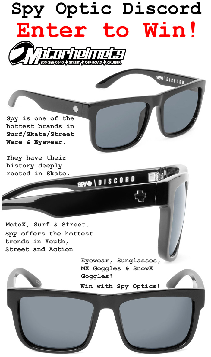 23628e7b53e Spy Optics Sunglass Raffle – Win the Spy Optics Discord Sunglasses ...