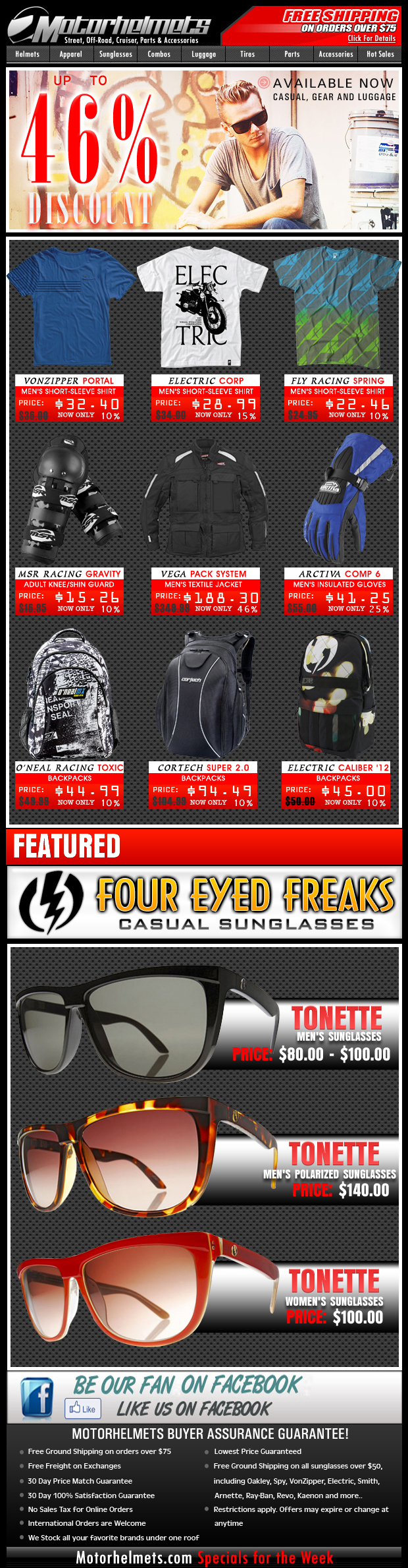Save Up to 46% Off on Gear & Apparel from MSR, Fly, Vega, Electric and more!