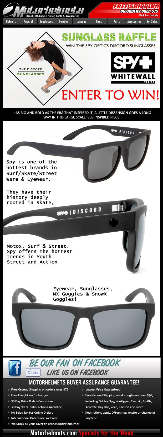 Spy+ Raffle Promo - Win the Spy Discord Sunglasses!