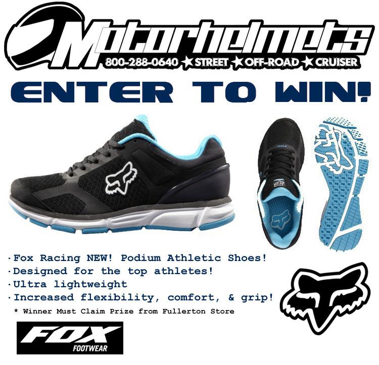 fox podium shoe contest