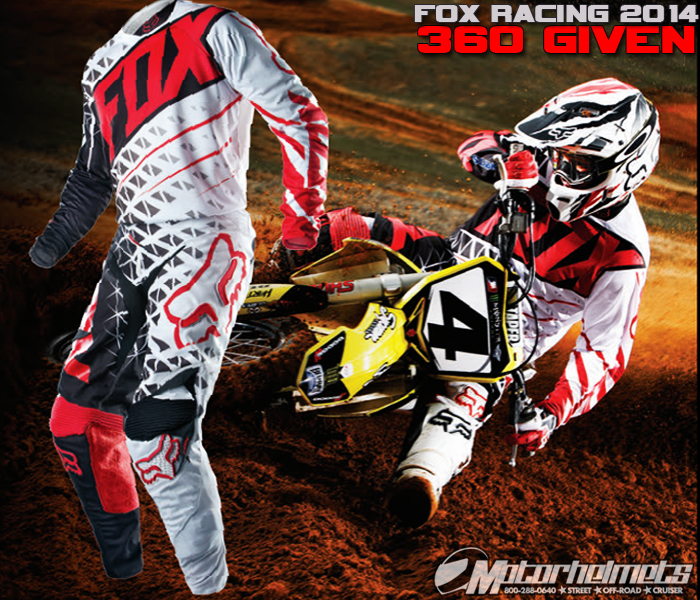 Check out the Fox Racing 2014 360 Given MX Gear!