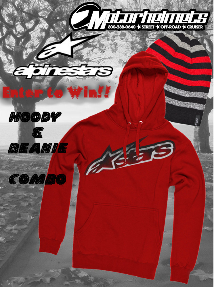 Alpinestars hoody and beanie combo