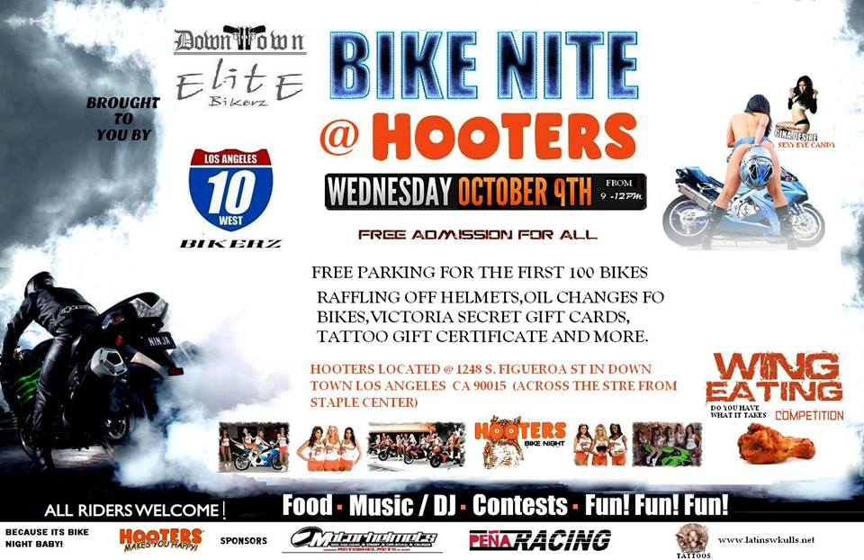 hooters bike night