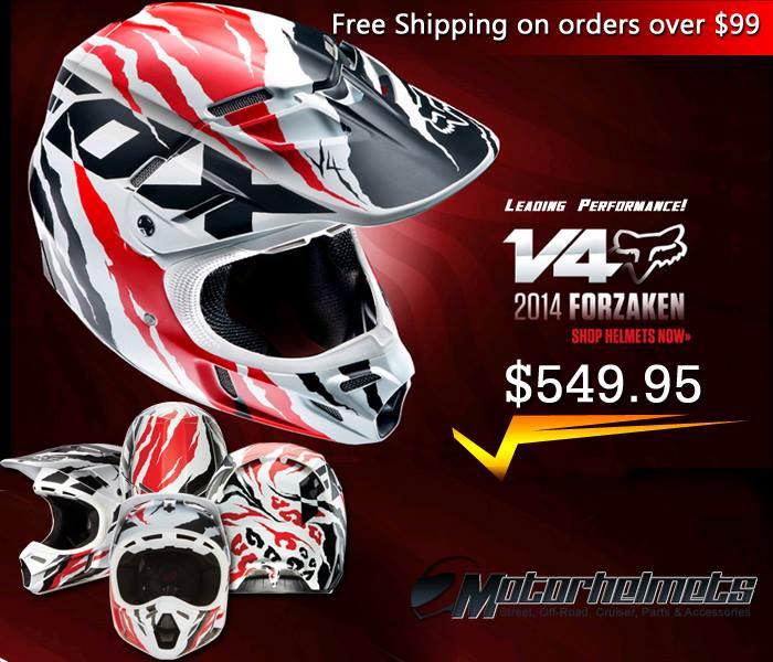 New 2014 Fox Racing Forzaken Men's V4 MX Motorcycle Helmet