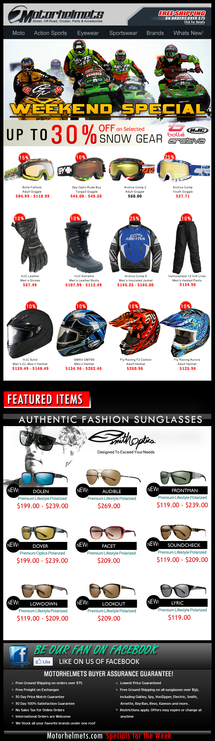 Save 10% off on every purchase of the 2014 Shoei MX & Street Helmets!