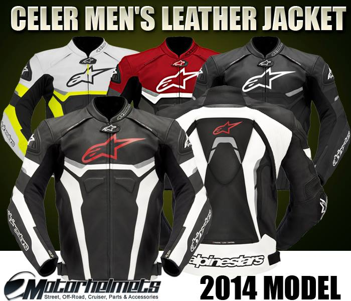 2014 Alpinestars Celer Men's Leather Street Motorcycle Jacket