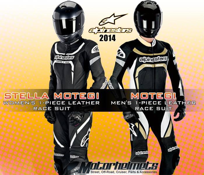 2014 Alpinestars Men's and Women's 1-Piece Leather Race Suit