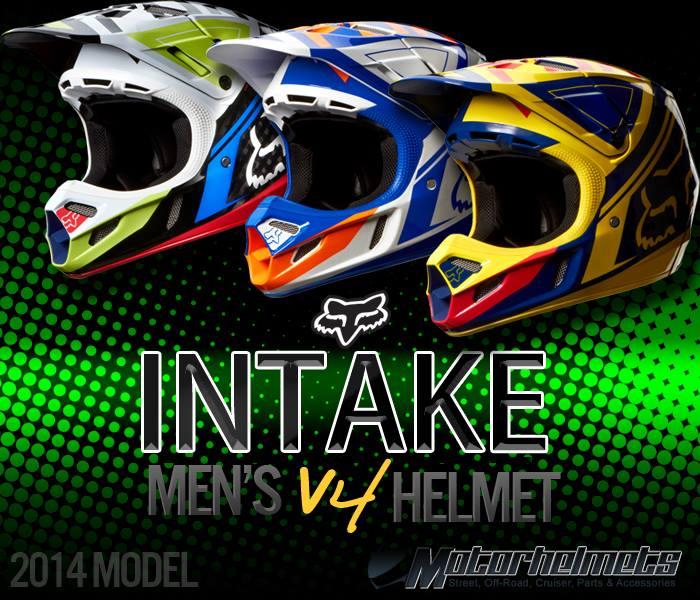 Fox Racing Intake Men's V4 Motocross Motorcycle Helmet