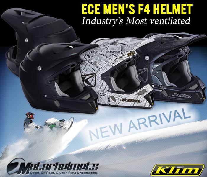 Klim F4 ECE Men's Snowmobile Helmet