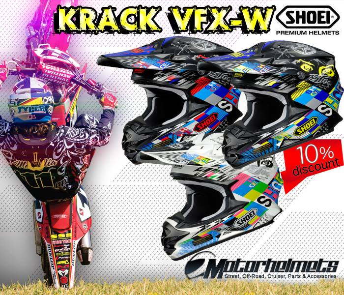 Shoei Krack VFX-W Off Road Motorcycle Helmet