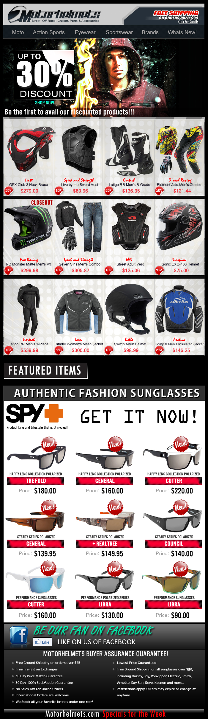 Save up to 30% Off on Gear & Apparel from Fox, Icon, Scorpion and more!!