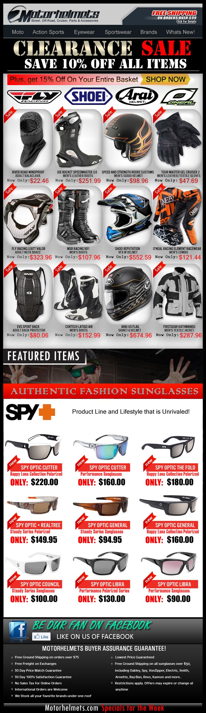 Usher the New Year with these Discounted Premium Items from Fly, Shoei, Arai and O'Neal!