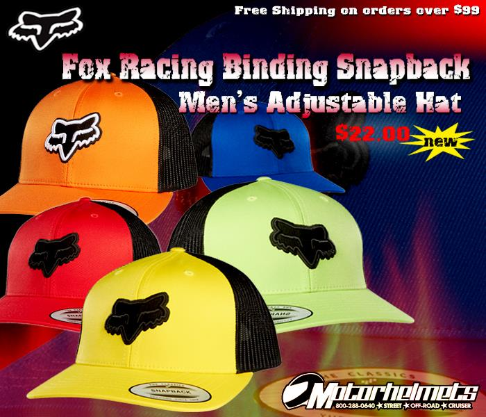 finest selection fcfbe f7b9a fox racing backslash snapback hat  fox racing binding snapback hats
