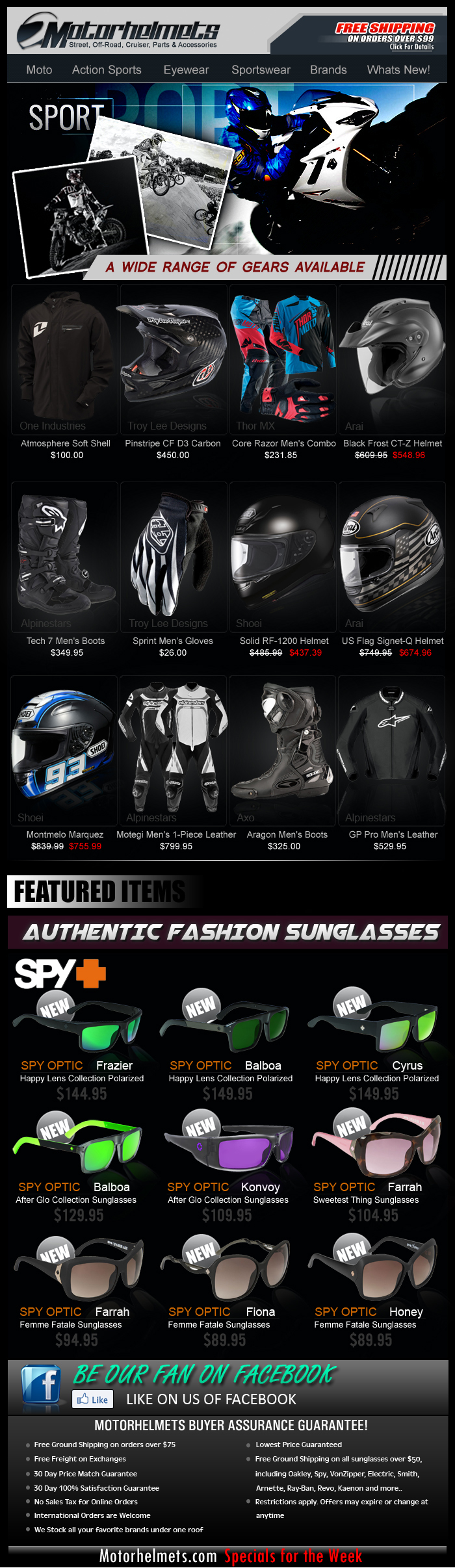 Gear up for Summer...Premium Motorcycle Gear from TLD, ThorMX, Alpinestars and more!