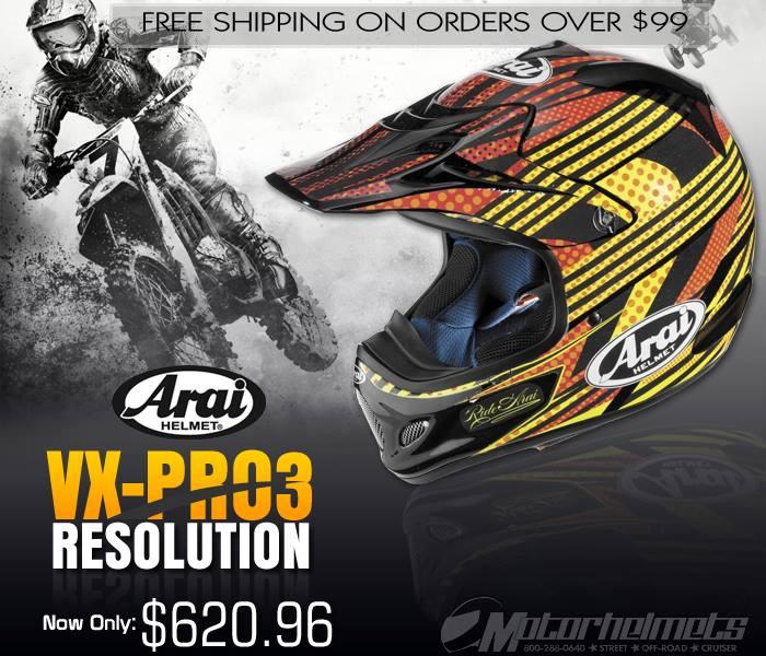 Arai Resolution VX-Pro3 Motocross Helmet
