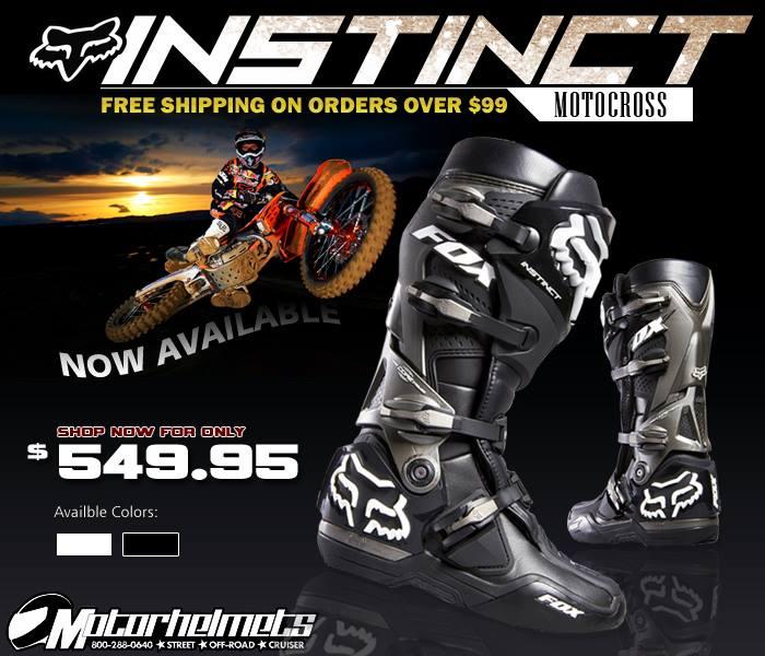 Fox Racing Instinct boots 2014