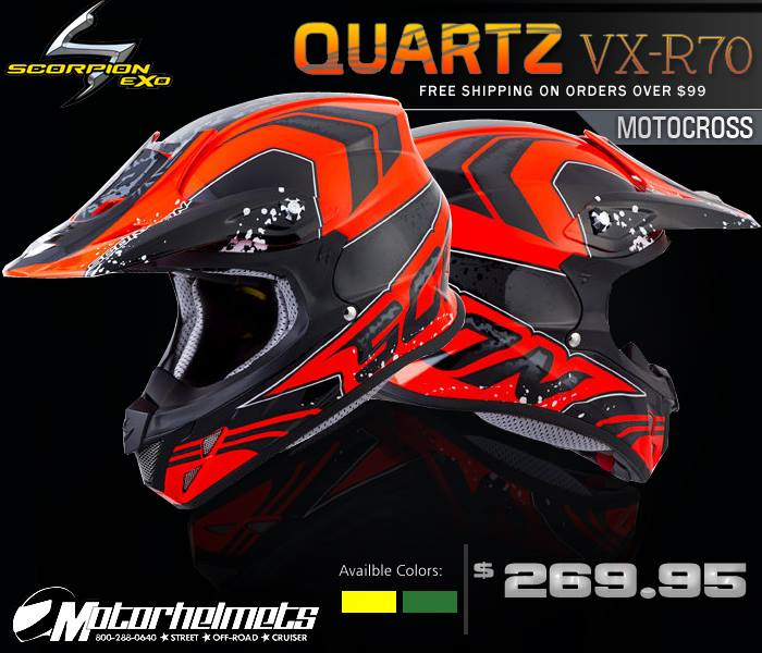 Scorpion Quartz VX-R70 Motocross Helmet