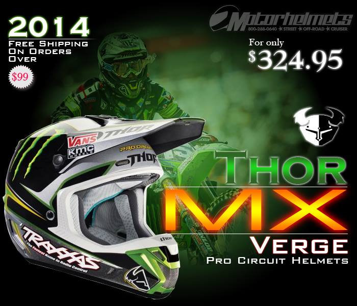 Thor MX Verge Pro Circuit Men's Motocross Helmet