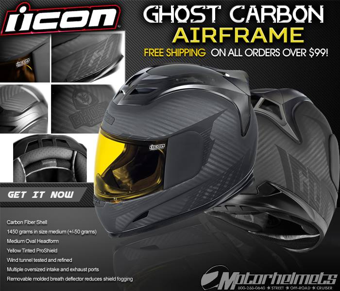 Icon Ghost Carbon Airframe Helmet