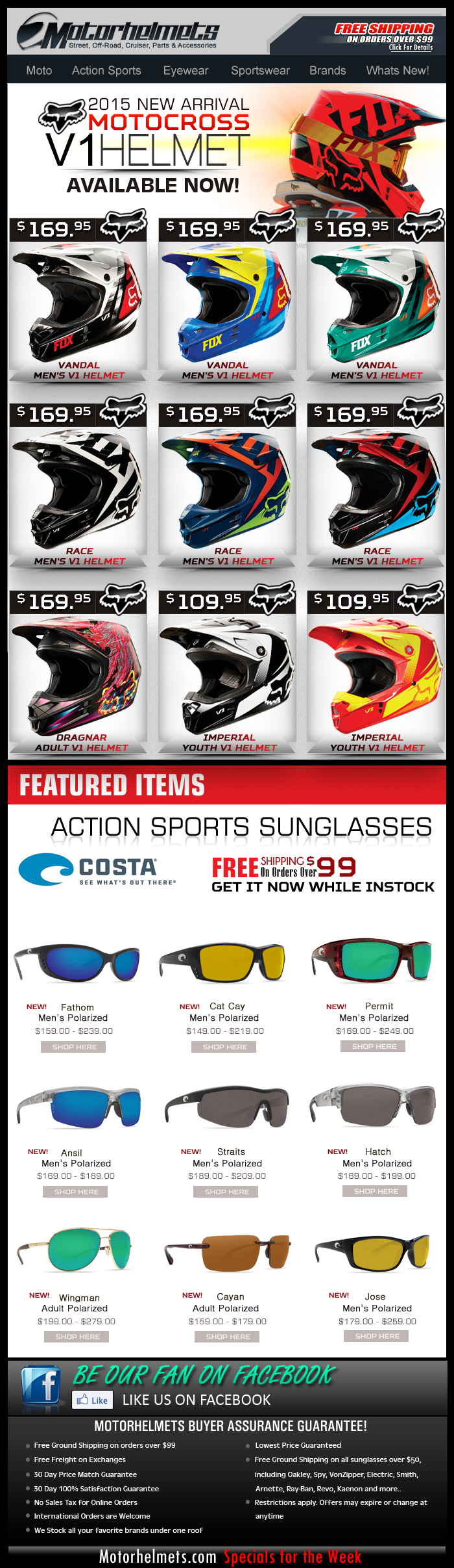 New from FOX...the 2015 V1 MX Helmet Collection, Available NOW!