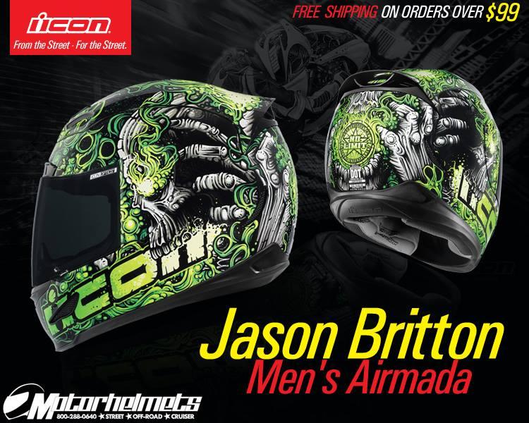 Icon Jason Britton Men's Airmada Street Helmet