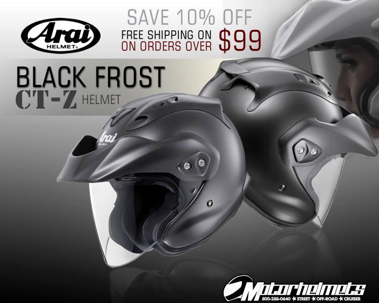 arai Black Frost CT-Z Cruiser helmet