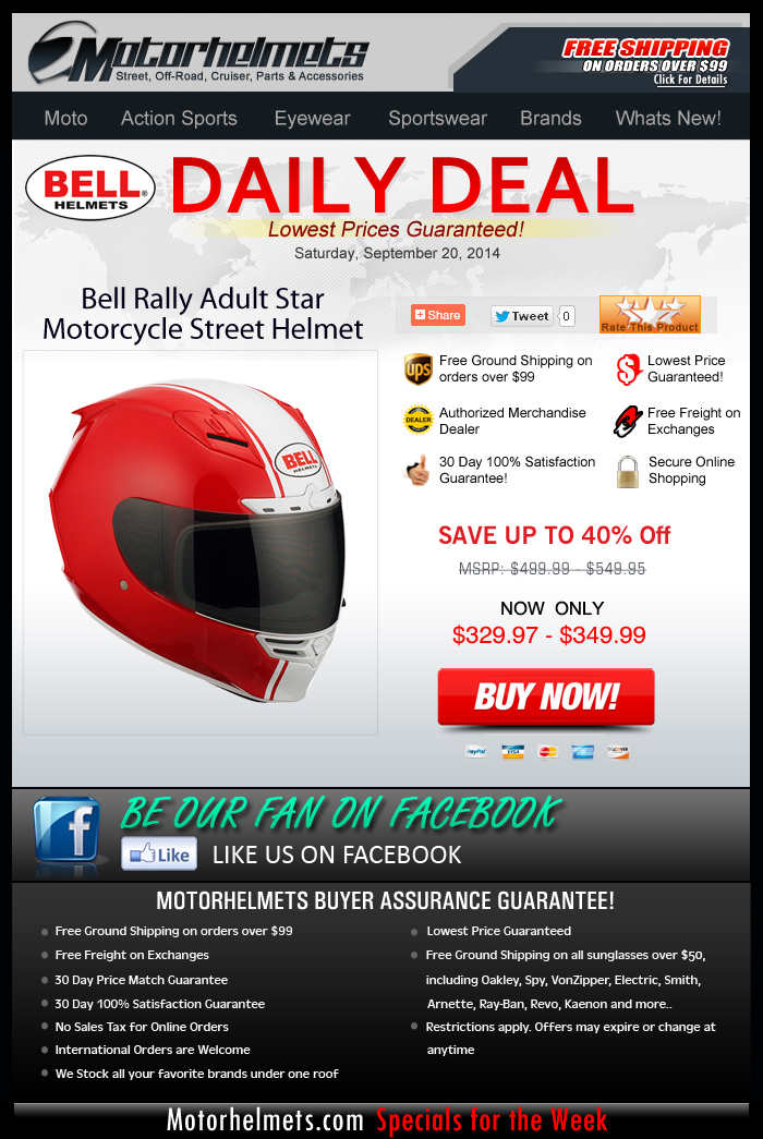 Ride Like a Star with the Bell Rally Helmet...now 40% OFF!