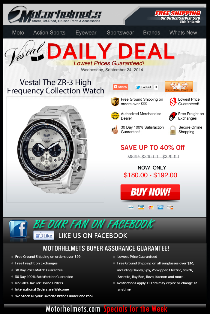 Save $120 on these Vestal Watches...before time runs out!