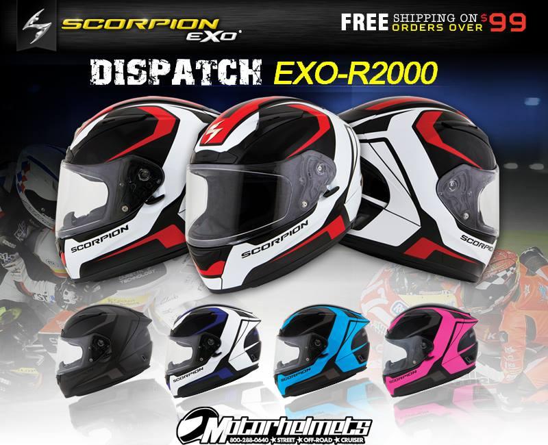 scorpion dispatch exo R2000 helmet