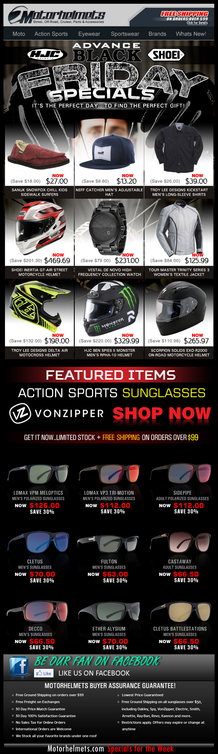 Early BLACK FRIDAY Deals...HJC, SHOEI and more premium items!