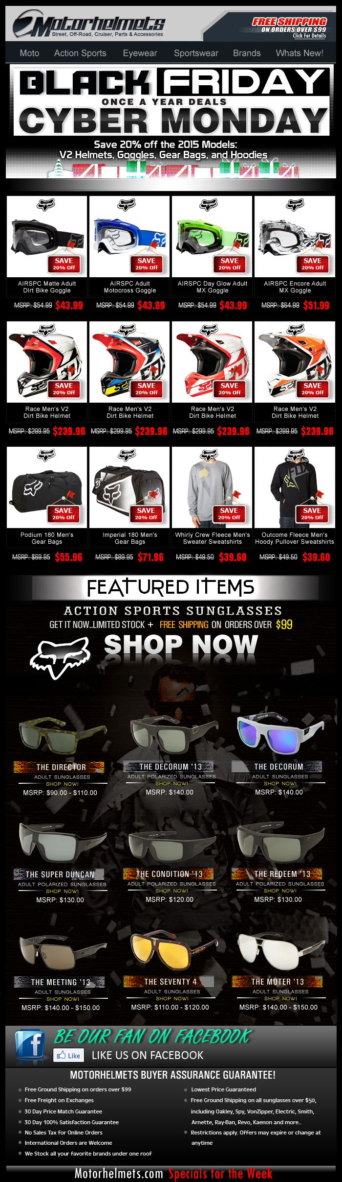 FOX WEEKEND SUPER SALE...as much as 20% off on Premium Gear & Apparel!