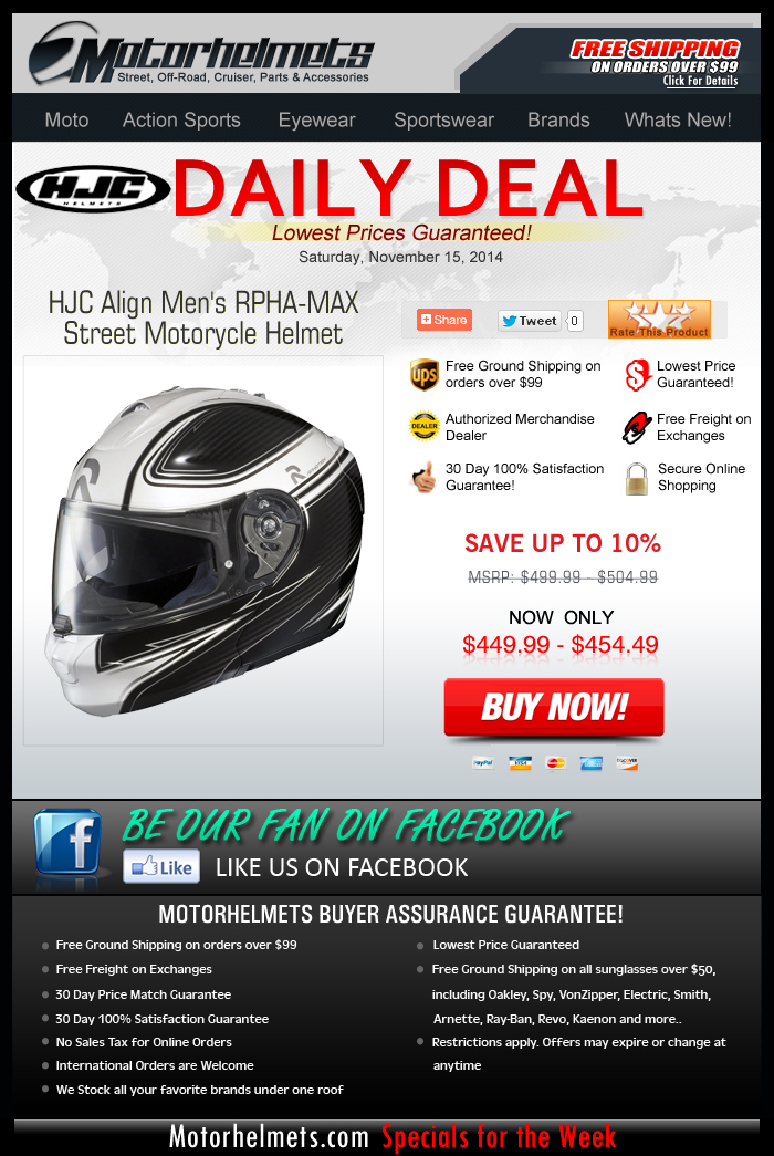 $50 Savings on the HJC Align RPHA-MAX Helmet!