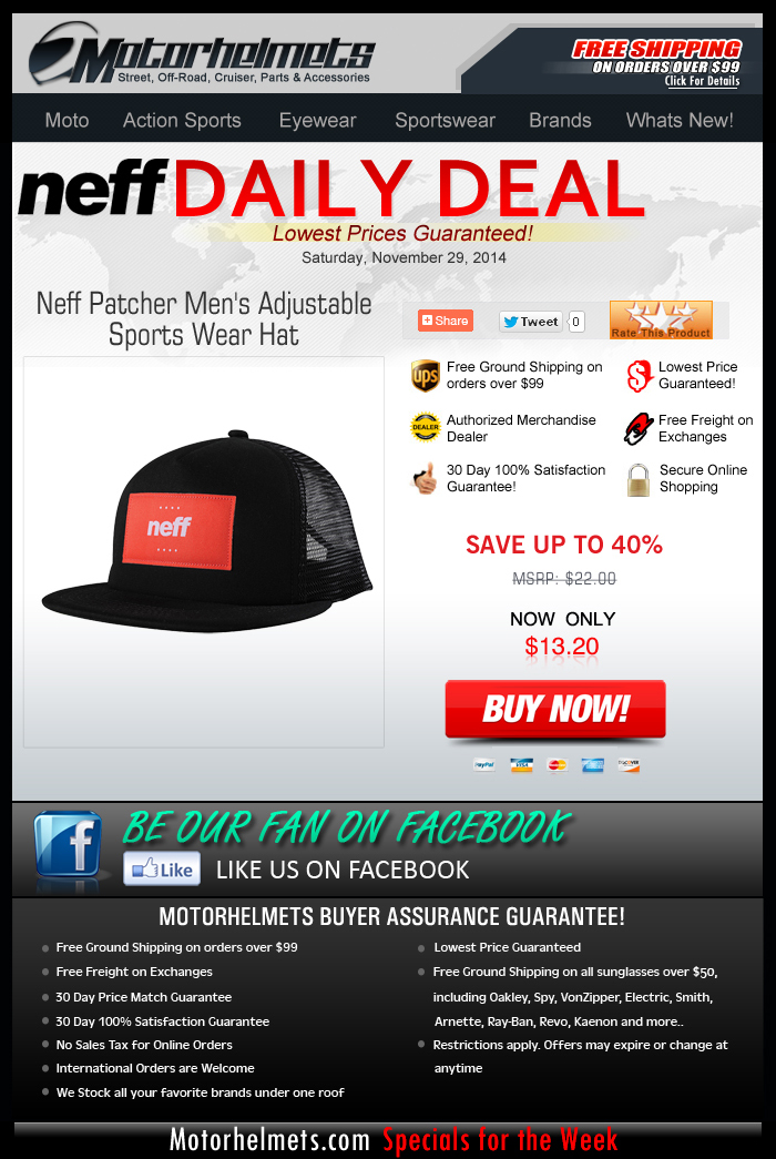 Get a Neff Hat for only $13!