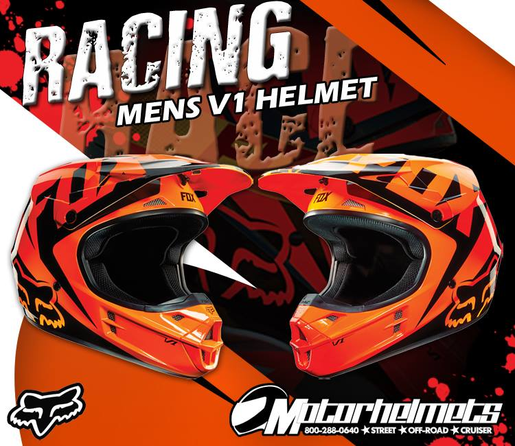 fox racing race v1 helmet