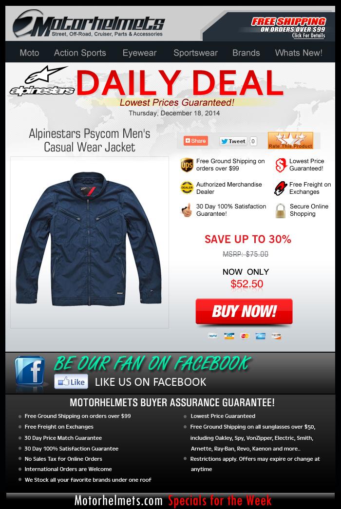 Price Drop Alert...30% off Alpinestars' Psycom Jacket!