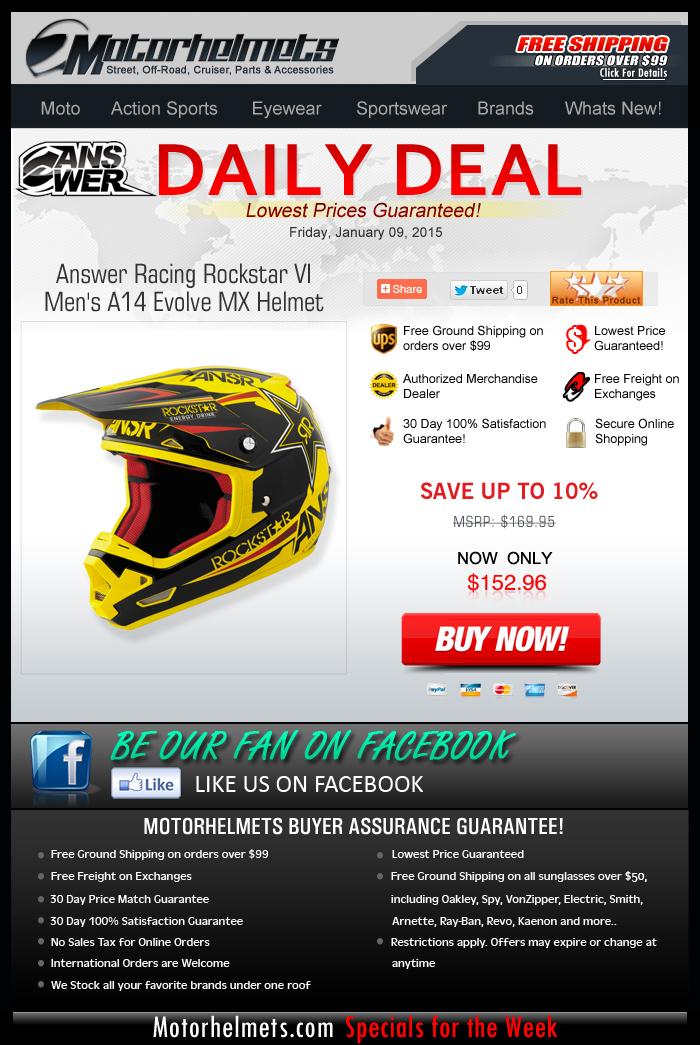 Rock the Rockstar VI Helmet from Answer, starts at $152.96!