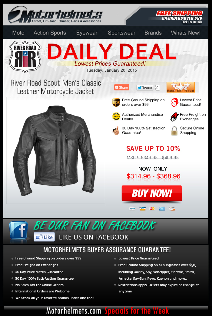 River Road Jackets...$35 off with every purchase!