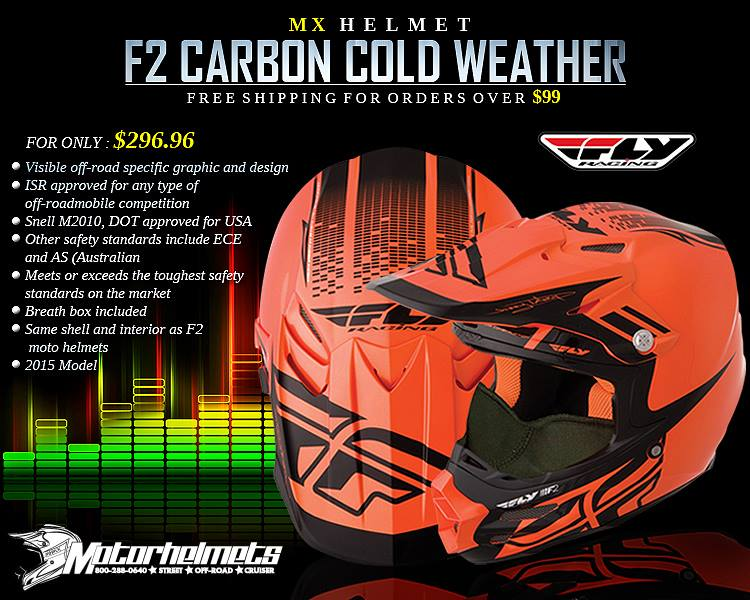 Fly Racing F2 Carbon Cold Weather Adult Helmet