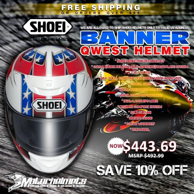 Shoei Banner Qwest Sports Bike Motorcycle Helmets