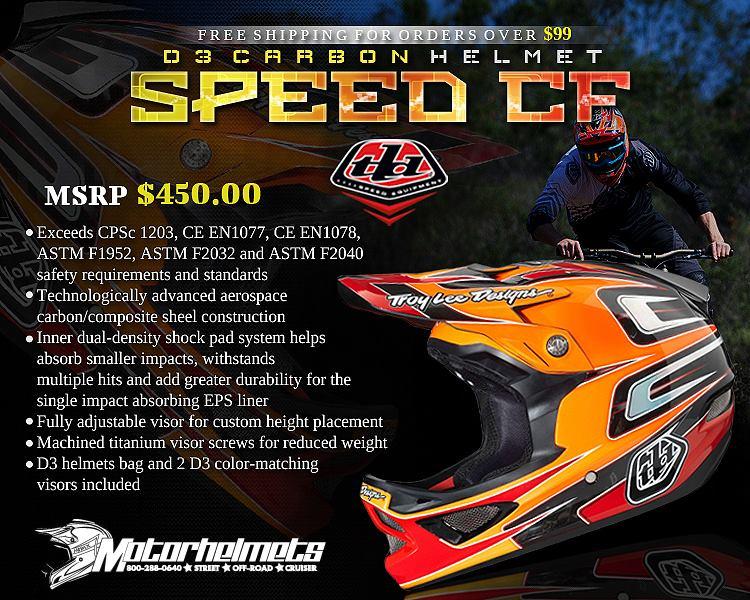 Troy Lee Designs Speed CF D3 Carbon Helmet