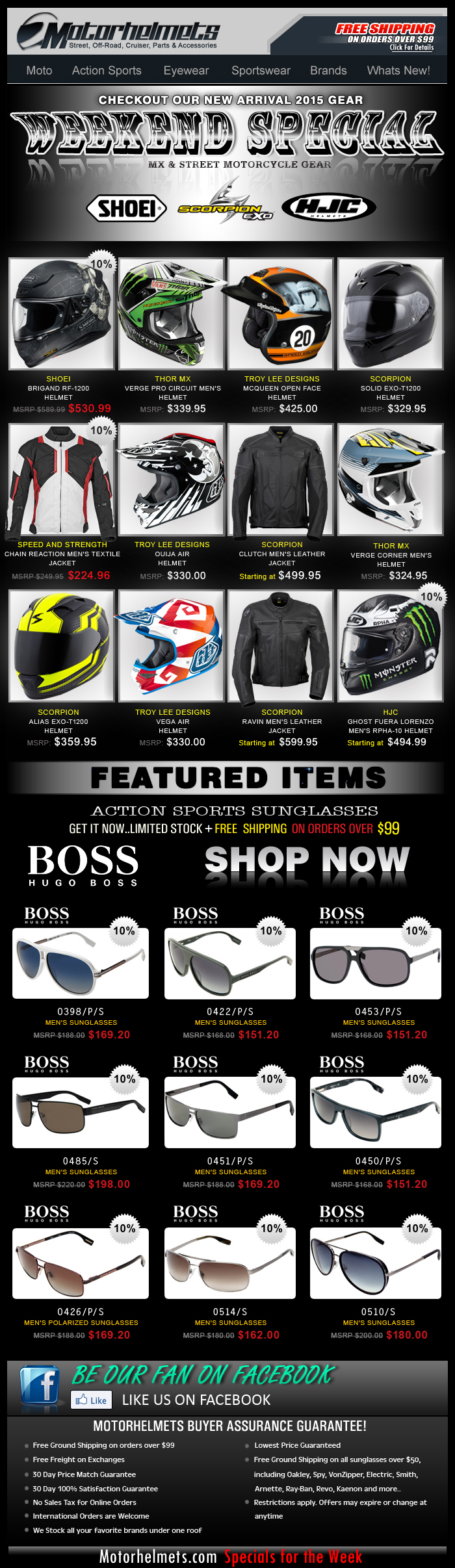 New Gear Alert...Shoei, HJC, Scorpion and more!