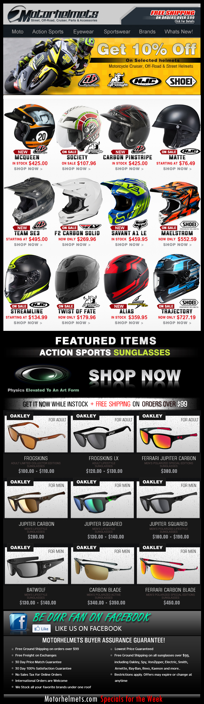 Motorcycle Helmets...New and On Sale...!