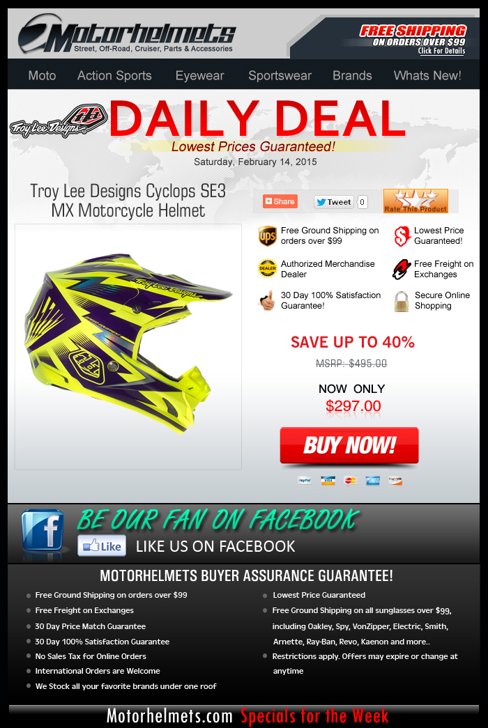 Save 40% on the TLD Cyclops Helmet!